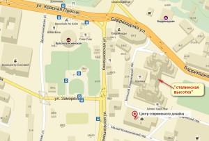 Центр на Баррикадной карта